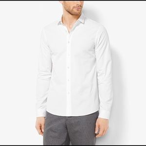 Michael Kors Slim Fit Mens Dress Shirt